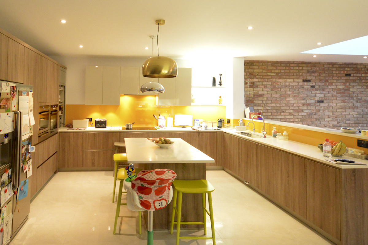 Architect designed house extension Grange Park Enfield N21 Kitchen area 1200x800 Grange Park, Enfield N21 – House extension and alterations