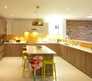 Architect designed house extension Grange Park Enfield N21 Kitchen area 300x266 Grange Park, Enfield N21 – House extension and alterations