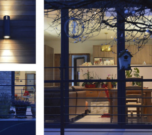 Architect designed house extension Grange Park Enfield N21 Night view 1 300x266 Grange Park, Enfield N21 – House extension and alterations