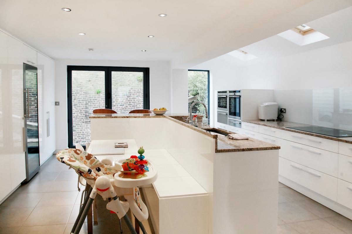 Architect designed house extension Highbury Islington N5 Ground floor kitchen area 1200x800 Highbury, Islington N5 | House extension