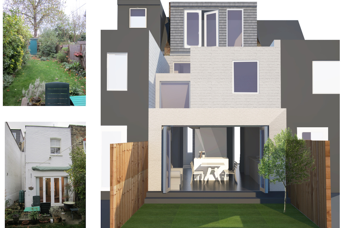 Architect designed house extension West Hampstead Camden NW6 3D visual and photos1 2 1200x800 West Hampstead, Camden NW6 | House extension