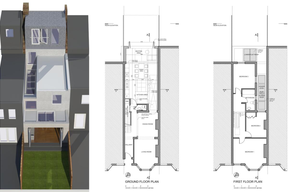 Architect designed house extension West Hampstead Camden NW6 Design floor plans 1200x800 West Hampstead, Camden NW6 | House extension