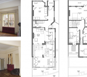 Architect designed house extension Winchmore Hill Enfield N21 Floor plans 300x266 Winchmore Hill, Enfield N21 | House extension and refurbishment