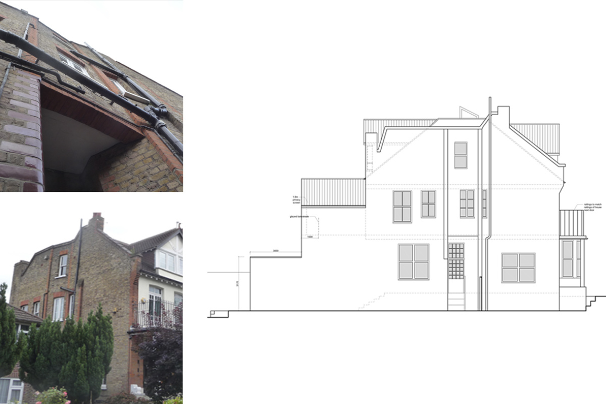 Architect designed house extension Winchmore Hill Enfield N21 Side elevation 1200x800 Winchmore Hill, Enfield N21 | House extension and refurbishment