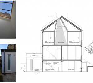Architect designed house extension with full refurbishment Lewisham SE13 Design section 300x266 Lewisham SE13 | House extension and full refurbishment
