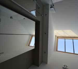 Architect designed house extension with full refurbishment Lewisham SE13 View of bathroom rooflight1 300x266 Lewisham SE13 | House extension and full refurbishment