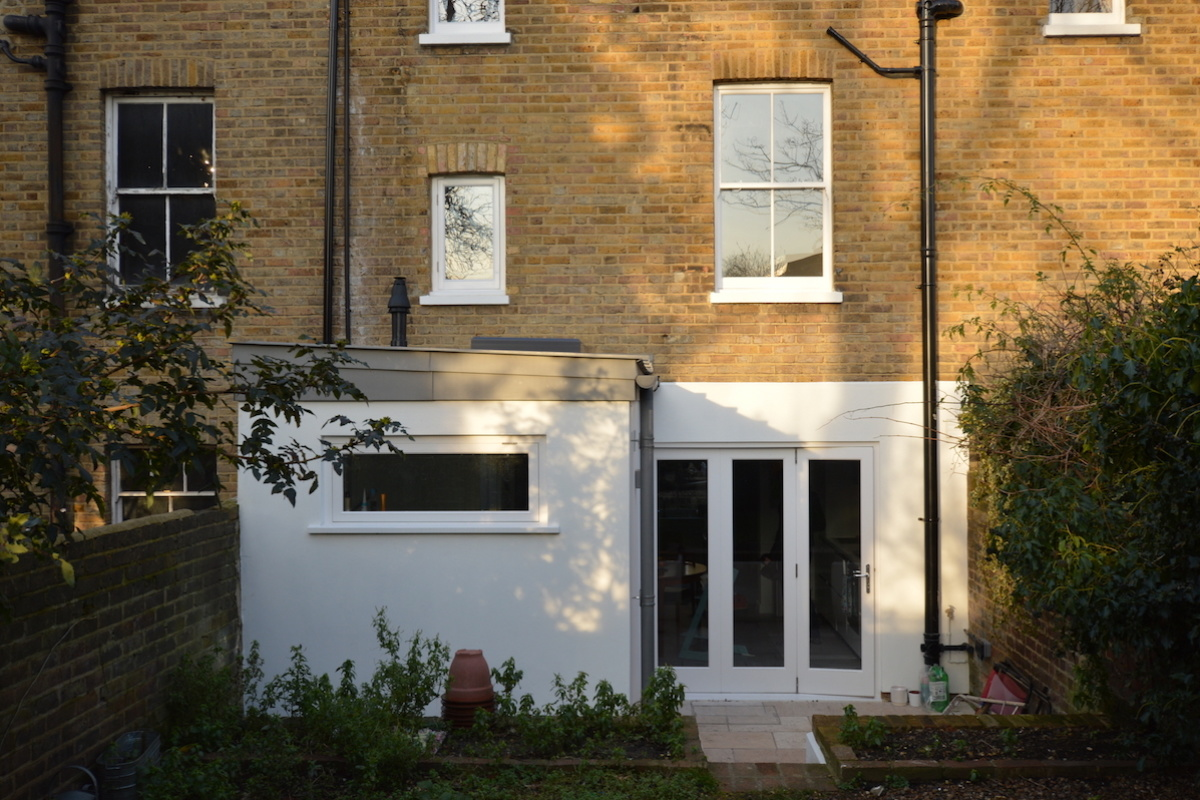 Architect designed house extension with full refurbishment Lewisham SE13 View of rear elevation1 1200x800 Lewisham SE13 | House extension and full refurbishment