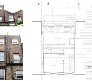Architect designed mansard roof house extension Angel Islington N1 Design plan 300x266 Angel, Islington N1 | Mansard roof house extension