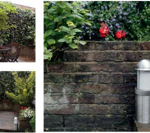 Architect designed mansard roof house extension Angel Islington N1 Garden landscaping ideas 300x266 Angel, Islington N1 | Mansard roof house extension