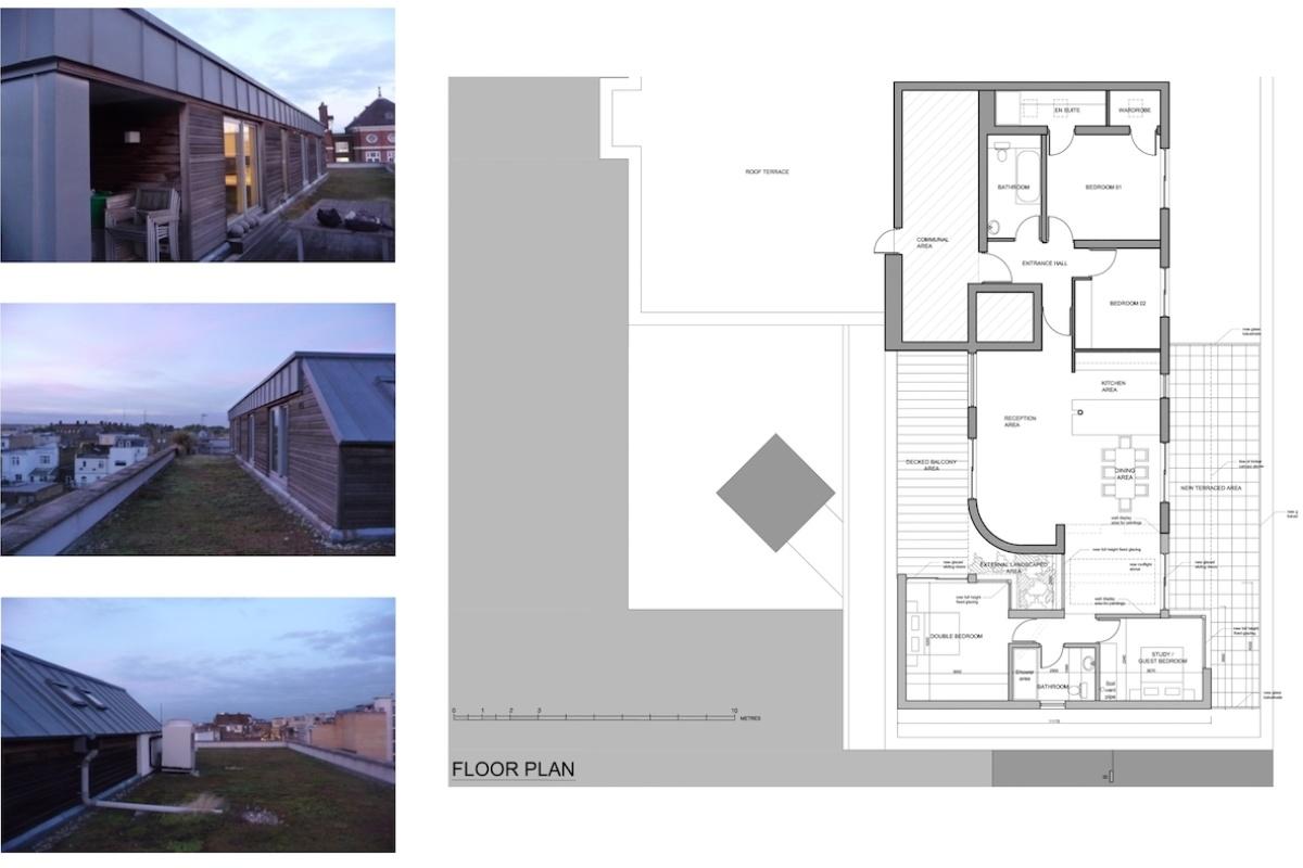 Architect designed penthouse extension Angel Islington N1 Floor plan 1200x800 Angel, Islington N1 | Penthouse extension