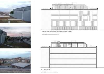 Architect designed penthouse extension Angel Islington N1 Site section and elevation 400x284 Portfolio Grid | GOA Studio | London Residential Architecture