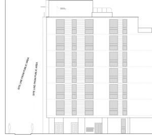Architect designed penthouse extension Barbican Islington EC1Y North Elevation 1 300x266 Barbican, Islington EC1Y | Penthouse extension