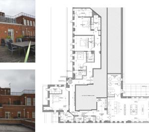 Architect designed penthouse extension Pimlico Westminster SW1P Floor plan 300x266 Pimlico, Westminster SW1P | Penthouse extension and alterations