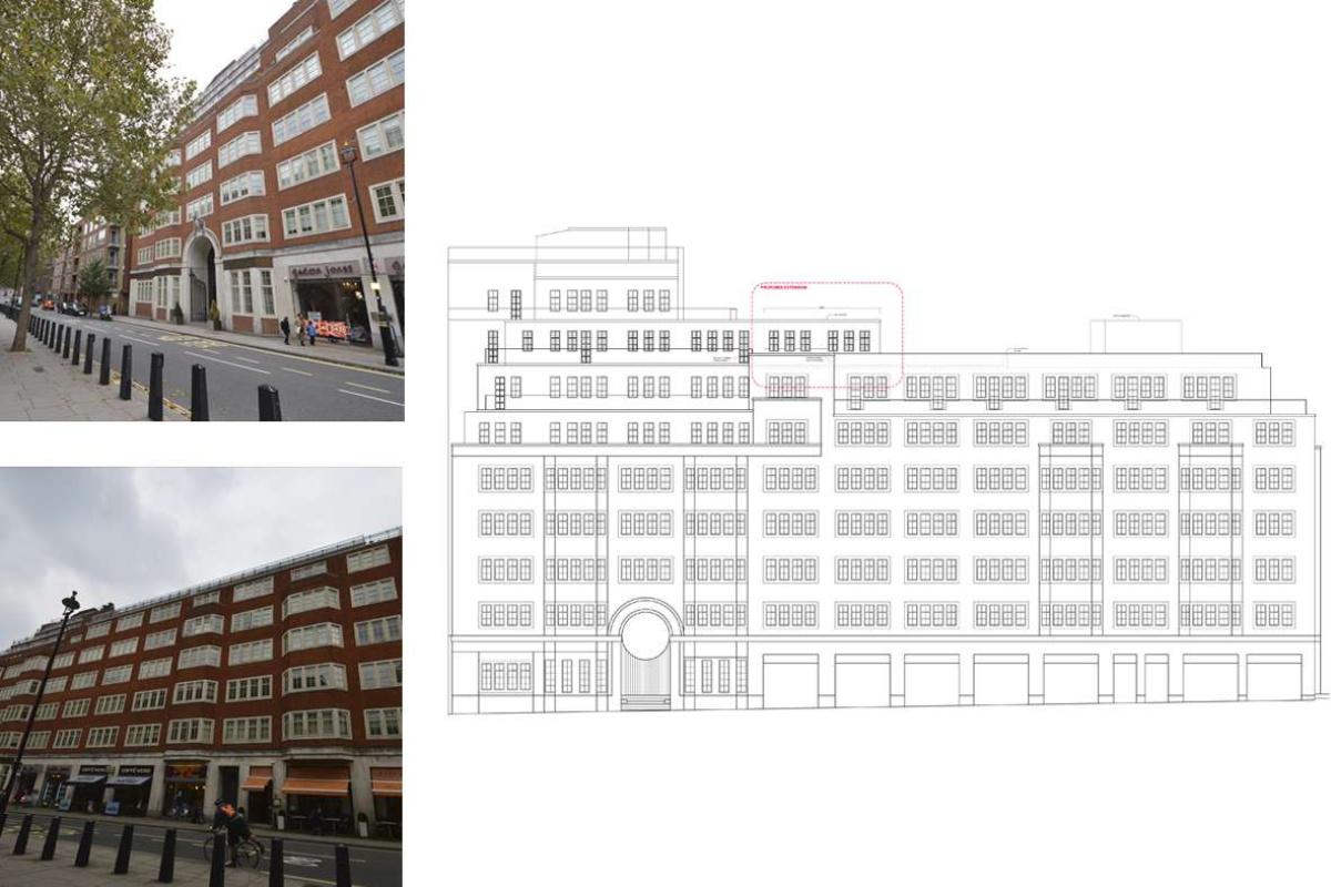 Architect designed penthouse extension Pimlico Westminster SW1P West Elevation 1200x800 Pimlico, Westminster SW1P | Penthouse extension and alterations