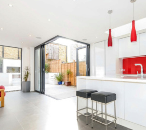 Architect designed rear house extension Herne Hill SE24 Lambeth Kitchen and garden view2 300x266 Herne Hill, Lambeth SE24 | House extension