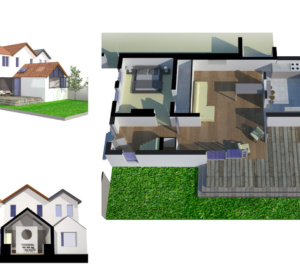 Architect designed residential extension Barnet EN5 3D visualisations 300x266 High Barnet EN5 | Residential extension to locally listed house