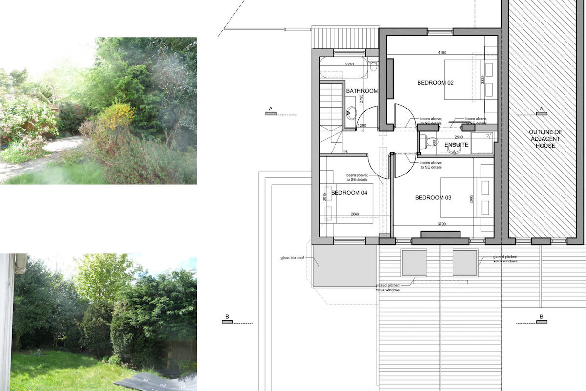 Architect designed residential extension Barnet EN5 First floor plan 1200x800 High Barnet EN5 | Residential extension to locally listed house