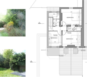 Architect designed residential extension Barnet EN5 First floor plan 300x266 High Barnet EN5 | Residential extension to locally listed house