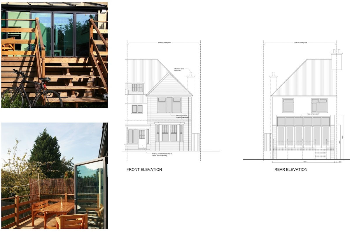 Golders Green Barnet NW11 House extension Design elevations 1200x797 Golders Green I, Barnet NW11   House rear extension