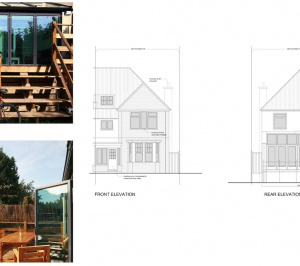 Golders Green Barnet NW11 House extension Design elevations 300x266 Golders Green I, Barnet NW11 | House rear extension