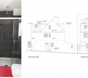 Golders Green Barnet NW11 House extension Design elevations1 300x266 Golders Green II, Barnet NW11 | House extension