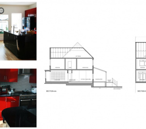 Golders Green Barnet NW11 House extension Design sections 300x266 Golders Green I, Barnet NW11 | House rear extension