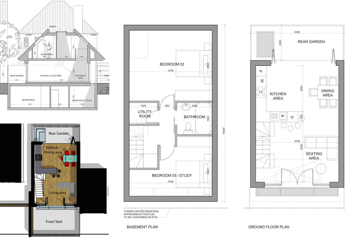 Southfields Wandsworth SW18 residential development – Architect design plans 1200x800 Southfields, Wandsworth SW18   Residential development