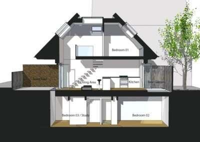 Southfields Wandsworth SW18 residential development – Architect design section copy 400x284 Portfolio Grid | GOA Studio | London Residential Architecture