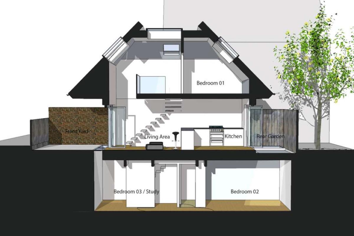 Southfields Wandsworth SW18 residential development – Architect design section copy e1582379037556 1200x800 Southfields, Wandsworth SW18   Residential development