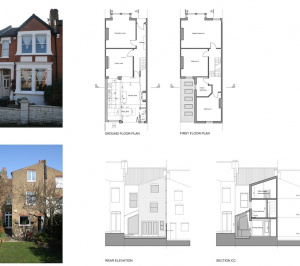 Streatham Hill Lambeth SW16 House extension design plans 300x266 Streatham Hill, Lambeth SW16 | House extension