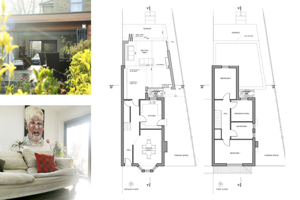 Architect designed house extension Brockley Lewisham SE4 Design floor plans 1200x800 Brockley, Lewisham SE4 | House extension
