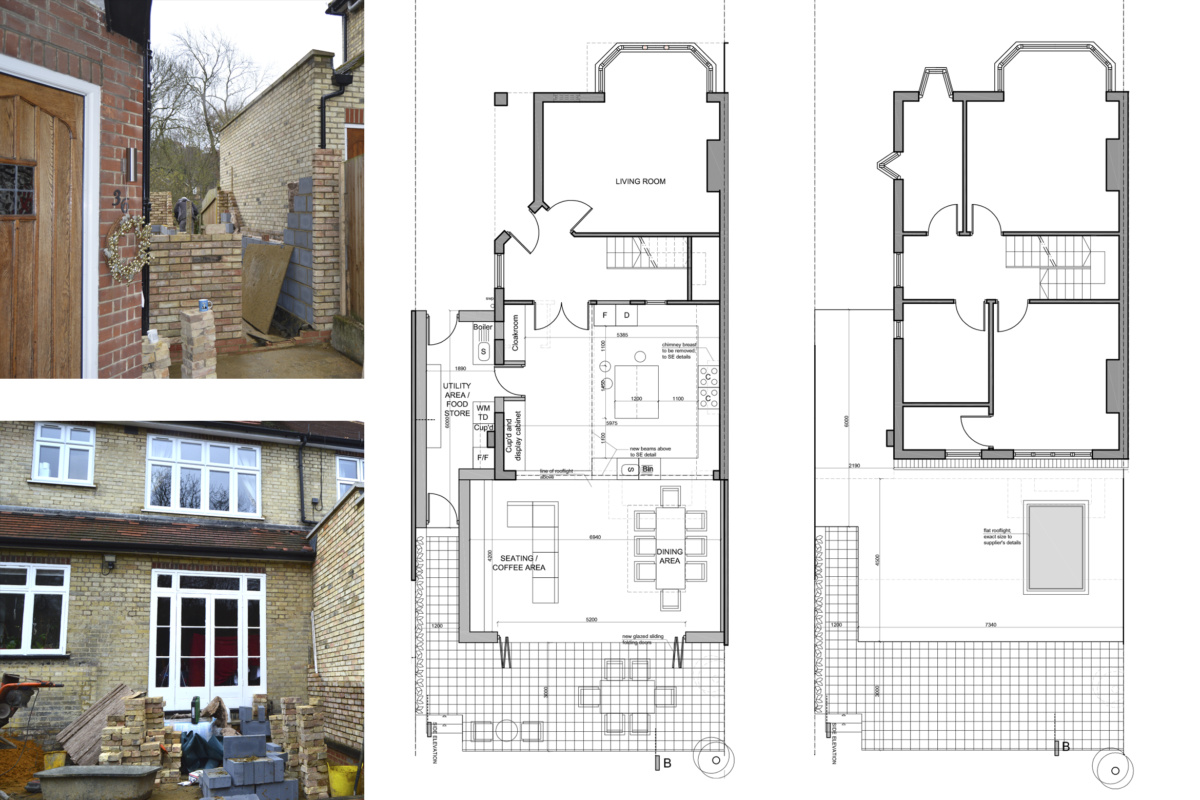 Architect designed house extension Grange Park Enfield N21 Floor Plans 1200x800 Grange Park, Enfield N21   House extension and alterations