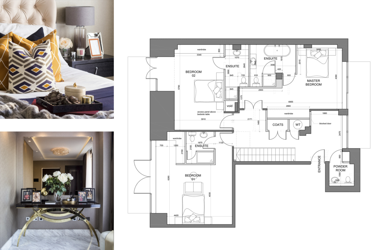 St James Park Westminster SW1H Penthouse alterations and refurbishment Floor plan and furnishings 1200x800 St James Park, Westminster SW1H | Penthouse alterations and refurbishment