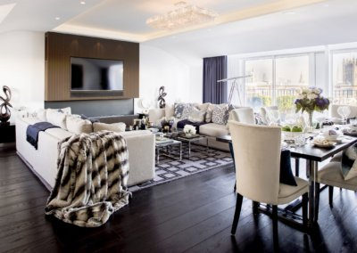 St James Park Westminster SW1H Penthouse alterations and refurbishment Living area 400x284 Filterable Portfolio of Residential Architecture Projects