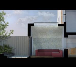 Angel Islington N1 Listed House rear extension – Section 3D 1 300x266 Angel, Islington N1   Listed house rear extension