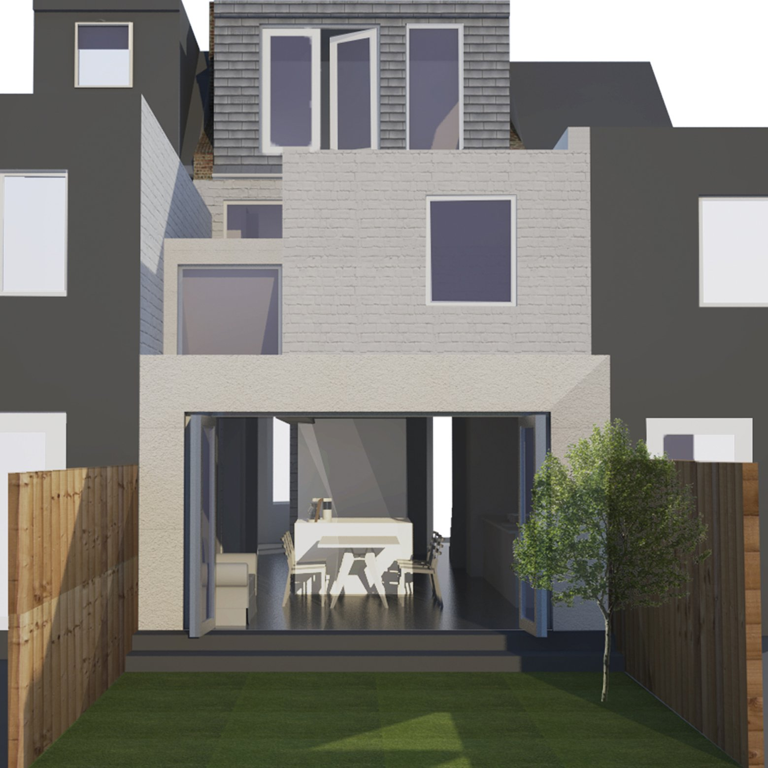 Architect designed house extension West Hampstead Camden NW6 – 3D visual 200x200 Finchley Road, Camden NW3 | Flat extension