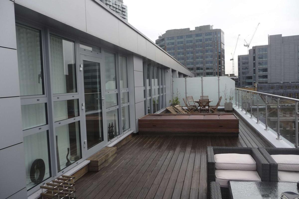Architect designed penthouse extension Barbican Islington EC1Y Terrace View 1200x800 Barbican, Islington EC1Y | Penthouse extension