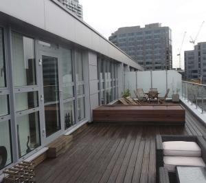 Architect designed penthouse extension Barbican Islington EC1Y Terrace View 300x266 Barbican, Islington EC1Y | Penthouse extension
