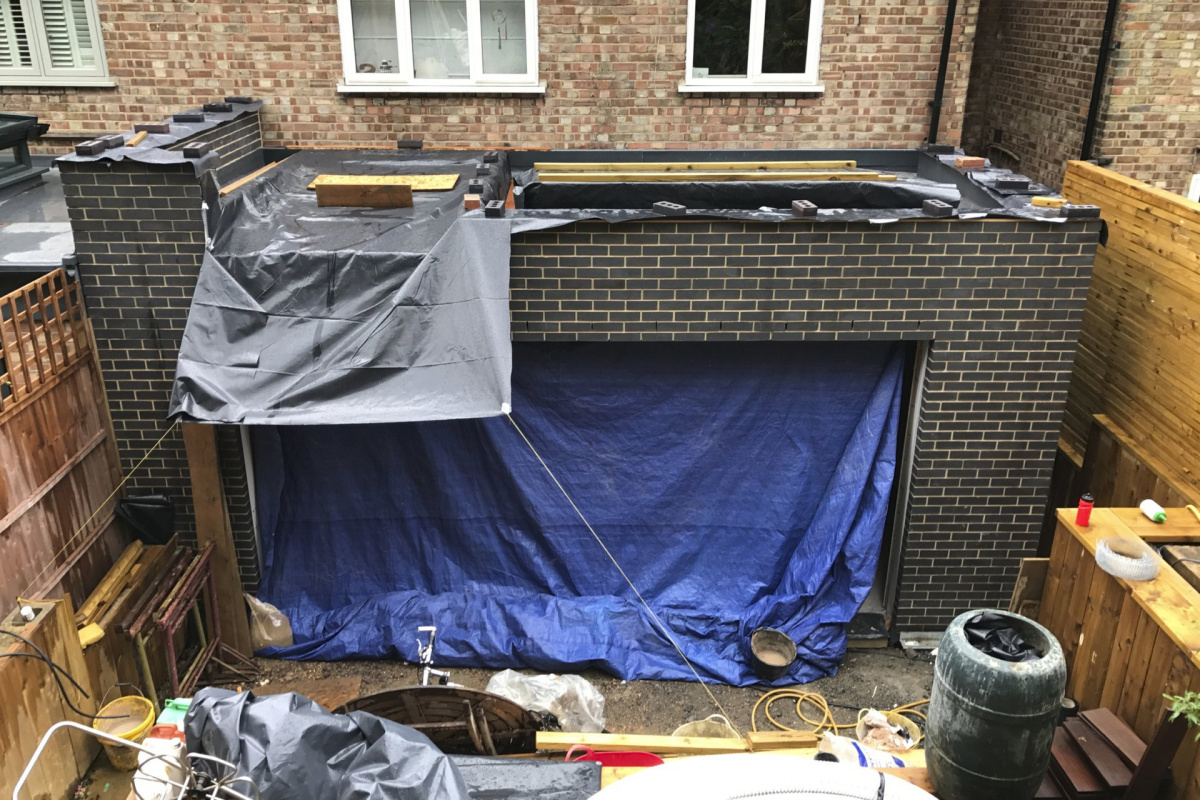 Architect designed rear house extension Highgate Haringey N6 – Site photo 1 1200x800 Highgate, Haringey N6 | Rear house extension