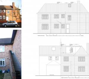 Architect designed roof flat extension Chiswick Hounslow W4 Elevations 300x266 Chiswick, Hounslow W4 | Roof extension to a flat