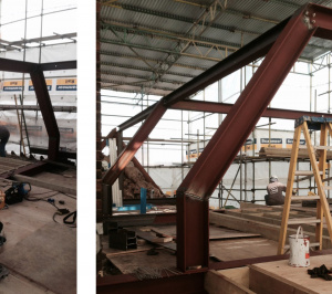 Architect designed roof flat extension Chiswick Hounslow W4 Steel frame construction 300x266 Chiswick, Hounslow W4 | Roof extension to a flat