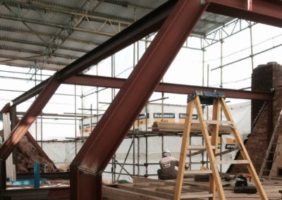 Architect designed roof flat extension Chiswick Hounslow W4 Steel frame construction 1 400x284 Filterable Portfolio of Residential Architecture Projects