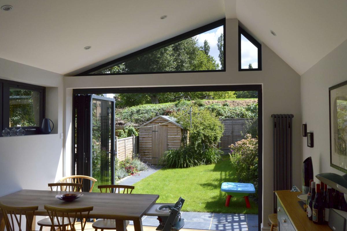 Nunhead Lewisham SE15 House kitchen extension – Inside out view 1200x800 Nunhead, Lewisham SE15   House kitchen extension
