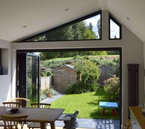 Nunhead Lewisham SE15 House kitchen extension – Inside out view 300x266 Nunhead, Lewisham SE15   House kitchen extension