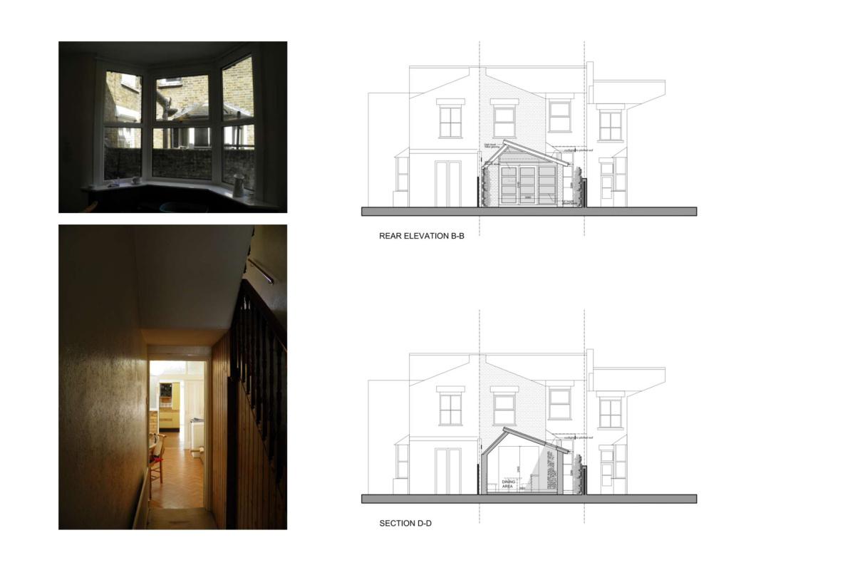 Nunhead Lewisham SE15 house kitchen extension – Architectural elevations 1200x800 Nunhead, Lewisham SE15   House kitchen extension