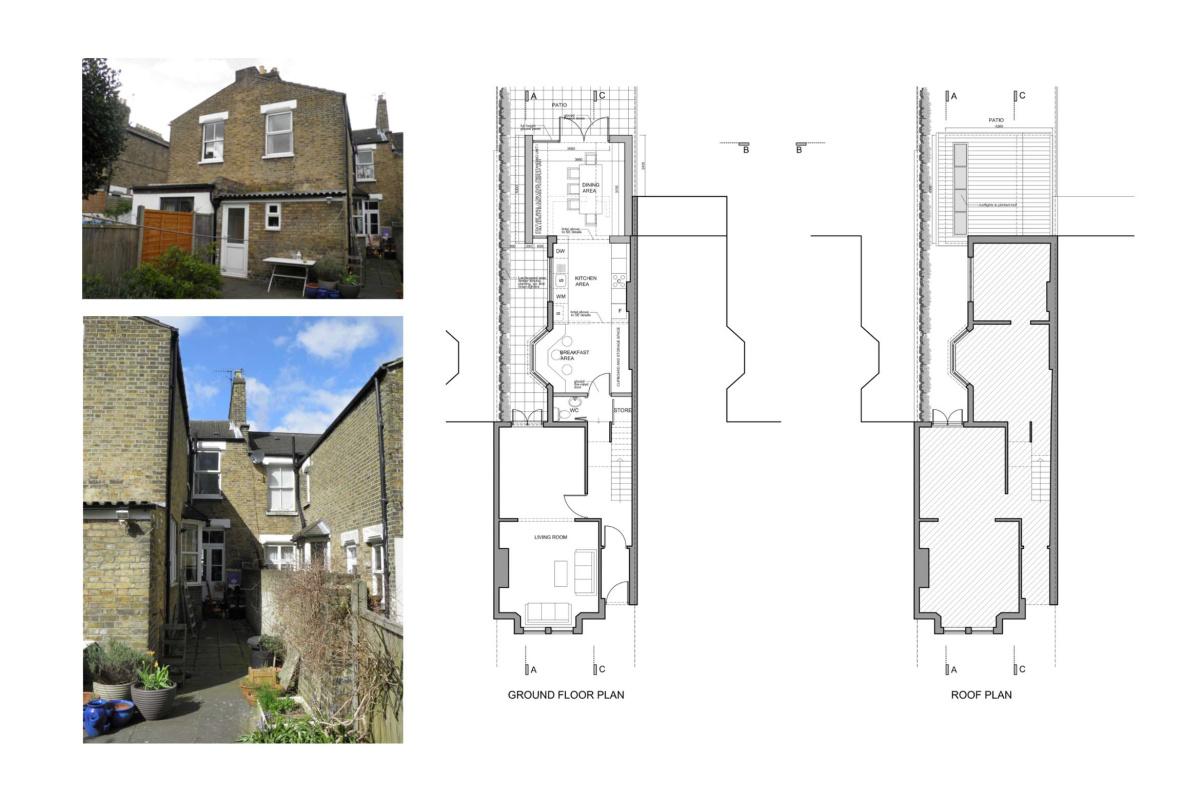 Nunhead Lewisham SE15 house kitchen extension – Architectural plans 1200x800 Nunhead, Lewisham SE15   House kitchen extension
