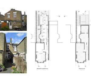 Nunhead Lewisham SE15 house kitchen extension – Architectural plans 300x266 Nunhead, Lewisham SE15   House kitchen extension