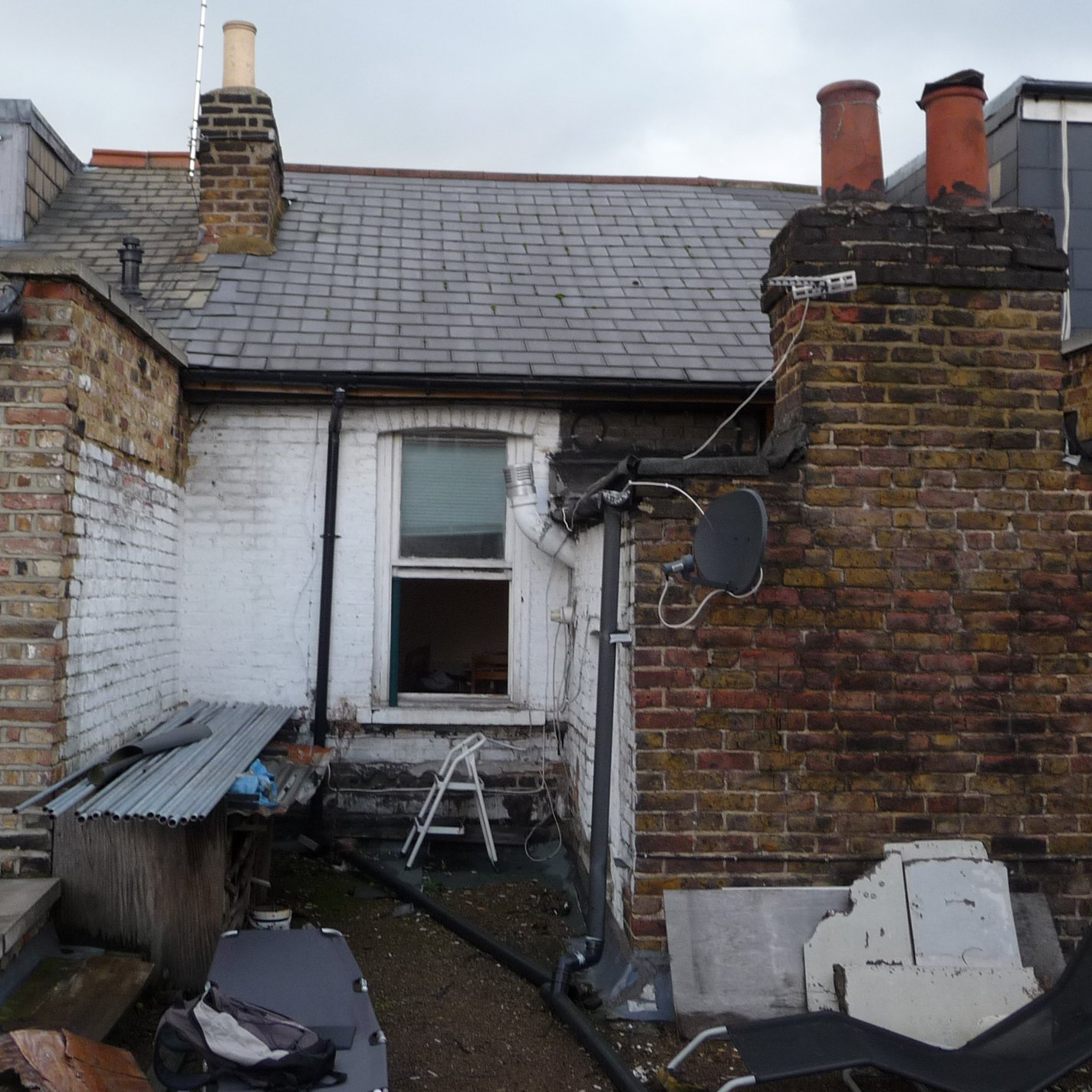 Stamford Brook H Fulham W12 9AS Flat extension Elevation 200x200 Fulham Broadway, H & Fulham SW6   Flat alterations to Mansard roof