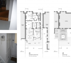 Architect designed garden flat extension Tooting Broadway Wandsworth SW17 Floor plans 1 300x266 Tooting Broadway, Wandsworth SW17 | Garden flat extension