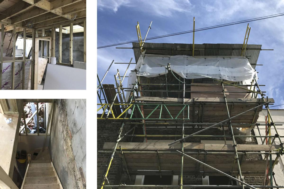 Architect designed mansard roof extension Finsbury Park Islington N7 Construction photos 1 1200x800 Finsbury Park, Islington N7 | Mansard roof extension